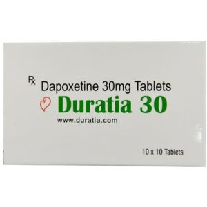 Generisk DAPOXETINE till salu i Sverige: Duratia 30 mg i online ED-piller butik namasute-mumbai.com